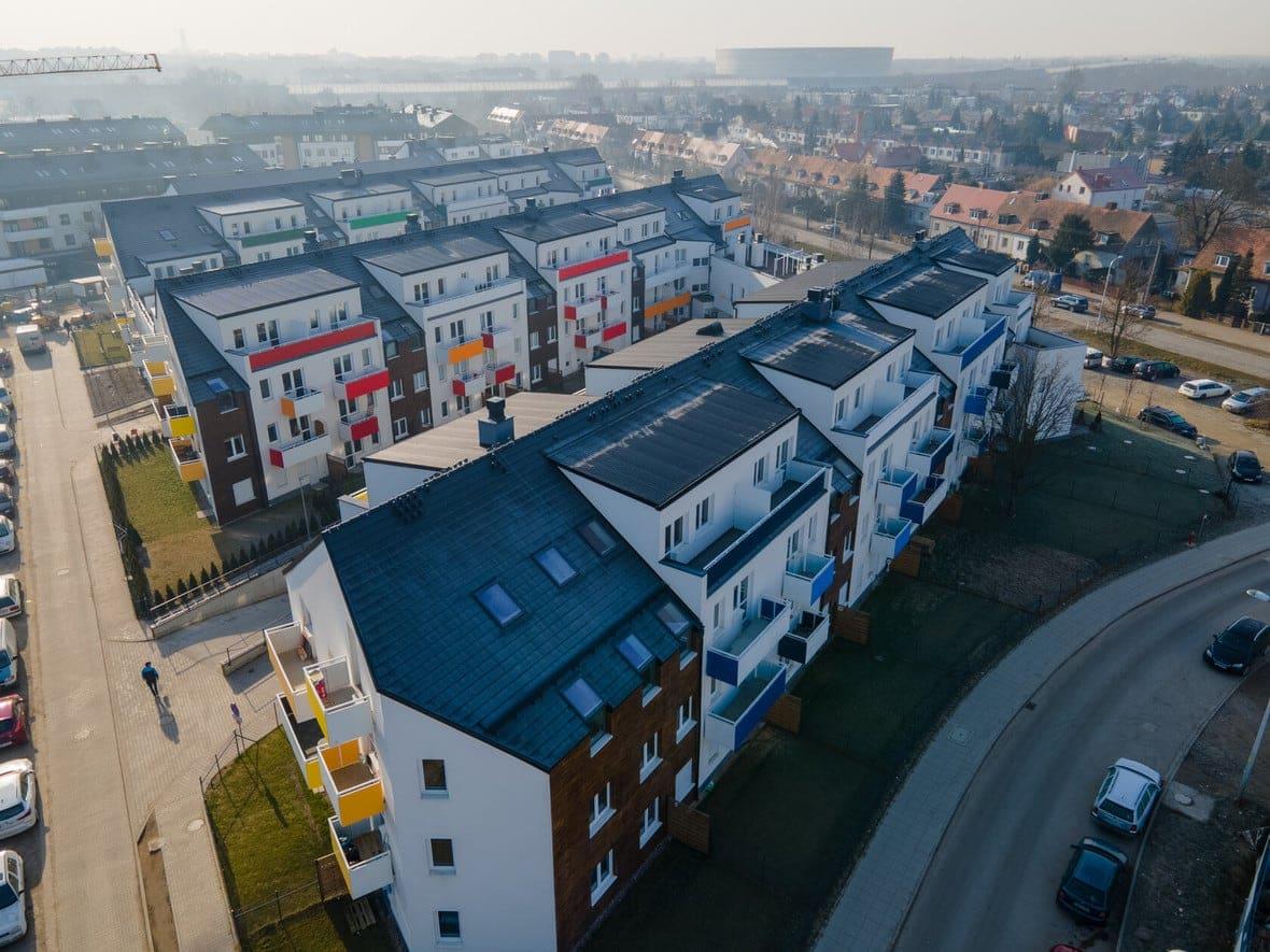 Osada Kolorowa - budynek C, D, E, F,G i H