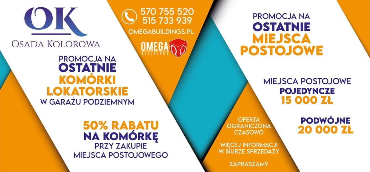 Promocja na miejsca parkingowe i komórki lokatorskie w Osadzie Kolorowej